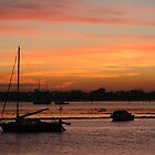 Langstone Harbour sunset by Sharon Bishop