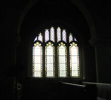 Granddaughter's Gallery  - South window in St John the Baptist, Colerne  by Photography  by Mathilde