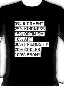 100% BRONY (Black & White) T-Shirt