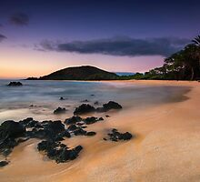 Big Beach Sundown - Maui by Michael Treloar
