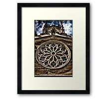 Round Stained Glass Church Window HDR  Framed Print