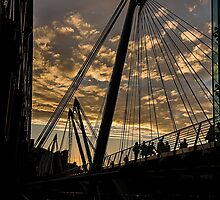 Hungerford bridge sunset by collpics