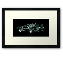 light delorean Framed Print