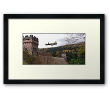 Lancaster VR-A at the Derwent Dam Framed Print