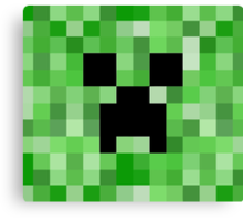 Creeper face - Minecraft Canvas Print