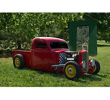 1937 Ford Pickup Truck Hot Rod with a 32' Ford Radiator Photographic Print