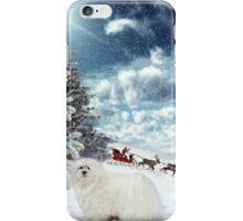 Snowdrop the Maltese - Sleigh Bells Ringing ! iPhone Case/Skin