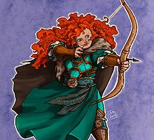 Merida as a Dwarf by LiberLibelula