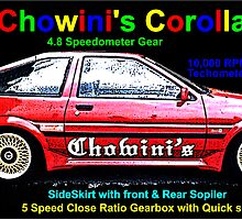 Chowini's Toyota AE86 POSTER  by chowini