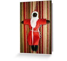 Black Santa greeting card Greeting Card