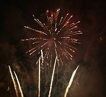 Fireworks over Alveley by Justine Humphries