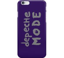 Depeche Mode : I Feel You font - grey iPhone Case/Skin