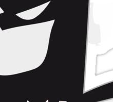 the mask of a heroe: batman Sticker