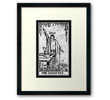 The Magician Tarot Card - Major Arcana - fortune telling - occult Framed Print