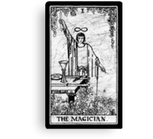 The Magician Tarot Card - Major Arcana - fortune telling - occult Canvas Print