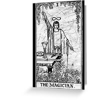 The Magician Tarot Card - Major Arcana - fortune telling - occult Greeting Card