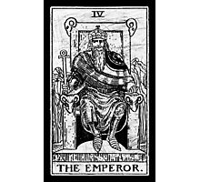 The Emperor Tarot Card - Major Arcana - fortune telling - occult Photographic Print