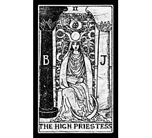 The High Priestess Tarot Card - Major Arcana - fortune telling - occult Photographic Print