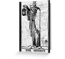 The Hermit Tarot Card - Major Arcana - fortune telling - occult Greeting Card