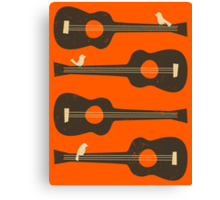 BIRDS ON A GUITAR STRING Canvas Print