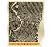 PHILADELPHIA MAP Poster