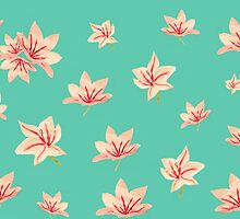 Vintage floral lily print  by bardenne