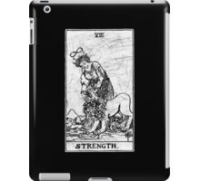 Strength Tarot Card - Major Arcana - fortune telling - occult iPad Case/Skin