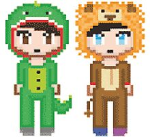 Pixel Amazingphil and Danisnotonfire Photographic Print