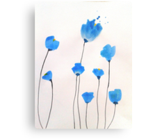 Bright blue flowers Canvas Print