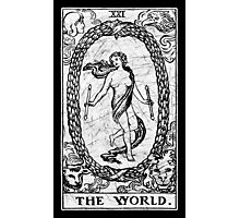 The World Tarot Card - Major Arcana - fortune telling - occult Photographic Print