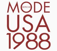 Depeche Mode : USA 1988 - 2 - Red by Luc Lambert
