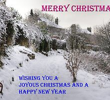 Back Braes in the Snow - Christmas Card by Tom Gomez