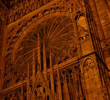 Strasbourg Cathedral - Grand Window by Pamela McAdams