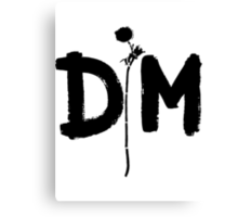 Depeche Mode : Enjoy The Silence - XL12Bong18 - Black Canvas Print
