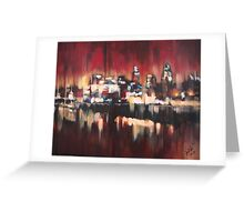 Red Sky Over London Greeting Card