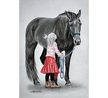 """Saying Goodbye to a Unicorn"" Photographic Print"