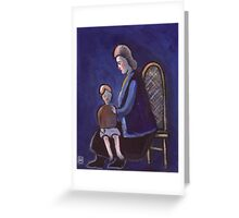 The babysitter (from my original acrylic painting) Greeting Card