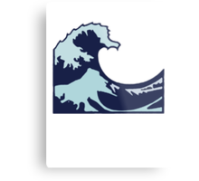Wave Emoji Metal Print