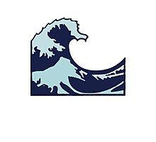Wave Emoji Photographic Print