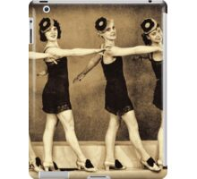 Chorus line in the 1920'es - flappers iPad Case/Skin