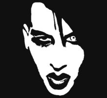 Stencil Marilyn Manson Face by ejoy87