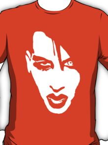 Stencil Marilyn Manson Face T-Shirt