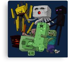MineCraft Cartoon Canvas Print