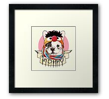 Manny the Frenchie Framed Print