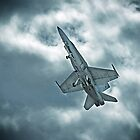 Aussie FA-18 gaining speed by Nathan T