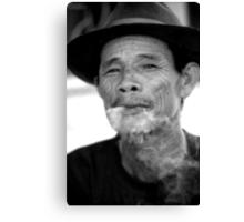 smoking man Canvas Print