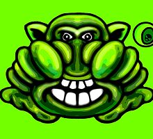 Green Gremlin Monster  by Sookiesooker