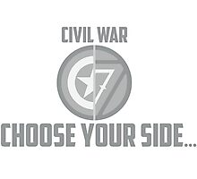 Marvel Civil War-Choose Your Side Photographic Print