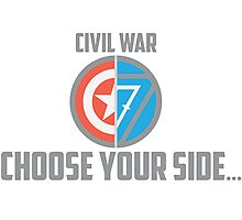 Marvel Civil War-Choose Your Side Version 2 Photographic Print