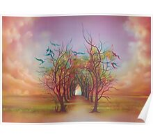 Birds of Rainbow Mist Poster